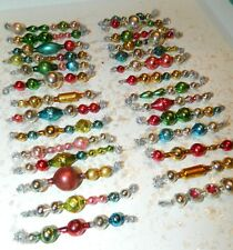 28 Stunning All Vintage Mercury Glass Garland Bead Tinsel Icicle Ornaments !