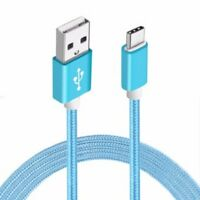 Samsung Galaxy S8 S8+ Note 8 Type C Sync Charging Power Braided Cable 1.5m  Blue