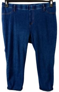 Time and tru blue denim spandex stretch pull on plus size cropped jeans XXL
