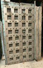 Antike Haustür Tor zweiflügelig Eisenholz schwer ca 100 kg shabby Asien Afrika/2
