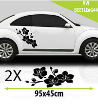 VW Beetle Flowers  Graphics Stickers  Decal /Tuning Car Graphics