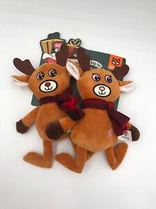 Zippy Paws Reindeer Set Girl Boy Plush Dog Toy Squeaky Puppy New