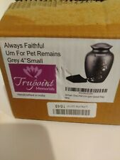 """Always Faithful Urn For Pet Remains Grey 4"""" Small"""