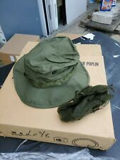 Vietnam US Army OG-107 Green Ripstop Jungle Boonie Hat 1969 MINT Unissued 6 3/8