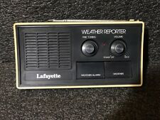 Vintage Lafayette Model Weather Reporter Table Radio 70-80's 99-35826L •�Works•