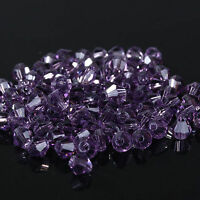 New #5301 fashion DIY jewelry 3mm/4mm Glass Crystal Bicone bead 1000pcs Violet