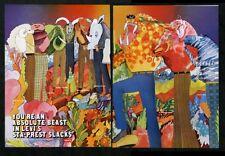 1970 Levi's fashion sta-prest slacks many colors illustrated vintage print ad