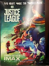 "Justice League ORIGINAL S/S 13"" x 19"" IMAX Movie Poster Ben Affleck Gal Gadot"
