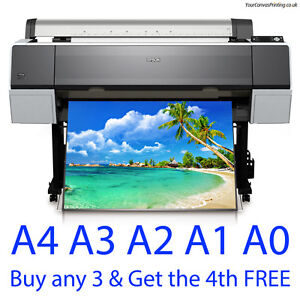 A0 A1 A2 A3 A4 Colour Poster Printing - Satin or Gloss - Photo Quality Paper