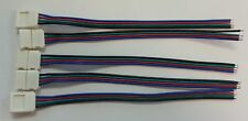 5x 10mm 3528/5050 RGB LED SMD Light Strip to Wire Connector PCB Adapter 4 Pin
