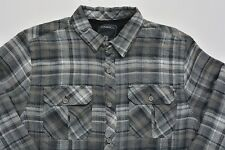 Men's O'NEILL Gray Black Flannel Plaid Jacket Shirt Small S NWT NEW Cool!