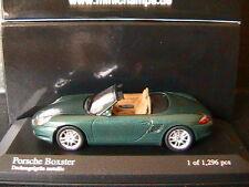 PORSCHE BOXSTER 2002 GREEN METALLIC MINICHAMPS 400062034 1/43 CABRIOLET ROADSTER