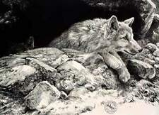"John Seerey Lester "" Arctic Wolf Pups # 34/290 (1989) Mint $700 Value Very Rare"