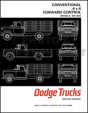 1967 Dodge Truck Shop Manual 67 Pickup Power Wagon Panel 100-800 Repair Service