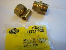 Brass fitting all-tube adaptor 1/2X1/2