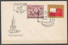 POLAND 1956 FDC SC#740/41 Polish-Soviet Friendship