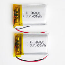 2 pcs 3.7V 400mAh Lipo Polymer cell Battery For MID DVD GPS mp3 bluetooth 702030