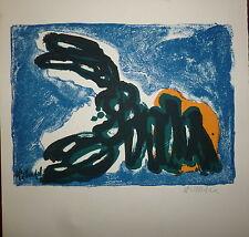 Helman Robert Lithographie signée art abstrait abstraction Ecole de Paris
