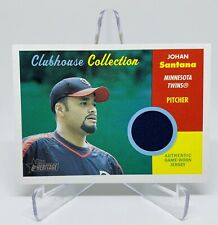 2006 Topps Clubhouse Collection Johan Santana Game-Worn Jersey Card Twins #CC-JS