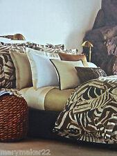 Nip $660 Ralph Lauren 3pc set Victoria Falls Queen Duvet Cover/Shams Cotton