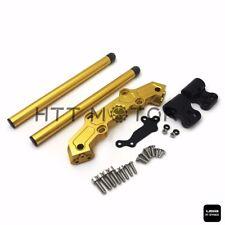 Clip-On Adapter Plate & Handlebars Set For Yamaha MT-09 FZ-09 2013-2016 Gold