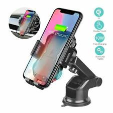 Qi Wireless Car Charger Mount Fast Charging Mobile Phone Holder Cradles Bracket