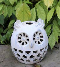 Garden Ornament Animal Candle Tea Light Bird Owl  Silhouette Decorative Stone