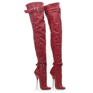 Ladies Chic Queen Sexy Club Shoe Stilettos High Heel Over Knee High Ballet Boots