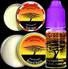 Acacia Grooming Co. | Beard Oil + Balm + Tash Wax | Nabugabo 10ml Marrakesh 15ml
