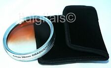 62mm Graduated Tobacco Color Lens Filter Half Brown Half Clear Special Effects