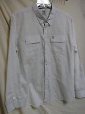 Marc Ecko EUC White Long Sleeve Button Front Easy Care Shirt XL