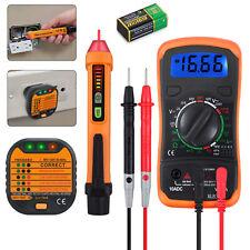 Electrical Test Kit With Digital Multimeter Voltage Tester Pen Amp Socket Tester Set
