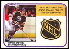 1981 82 OPC O PEE CHEE 383  WAYNE GRETZKY NM ASSIST LEADER EDMONTON OILERS CARD