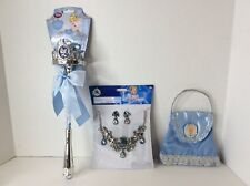 Disney Store Cinderella Light Up Princess Wand Royal Jewelry Set Purse Dress Up