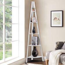 Display Shelf Storage Bookshelf 6 Level Tier Ladder Wall Bookcase Stand Rack