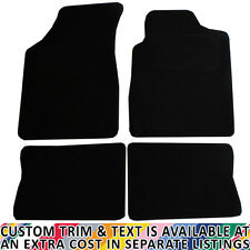 For Renault Clio MK II 1998 - 2005 Fully Tailored 4 Piece Black Car Mat Set