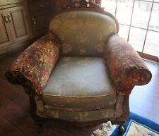 Vintage Carved Mahogany Armchair.(low Back)