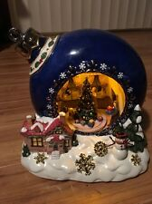 """HERITAGE HOUSE MUSIC BOX ORNAMENT """"HAVE YOURSELF A MERRY LITTLE CHRISTMAS"""" LIGHT"""