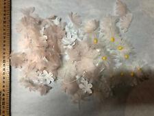 Lot fleurs tissu Haute couture  / Materiel couture Modiste / Petales