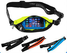 Sport Bike & Run Waist Tune Audio Belt Mp3 Player Smart Mobile Phone Case Blue