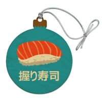 Sushi Nigiri Japanese Nigirizushi Wood Christmas Tree Holiday Ornament
