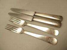 Original 800er Silber Besteck - 2 Speisegabeln und 2 Speisemesser mit Wappen