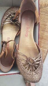 chaussures Plates Tressées - taille 41 - Yves Desfarge - San Marina - Ballerines