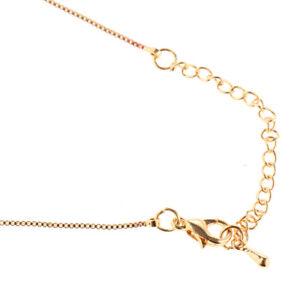 Weiß Kristall Herz Anhänger Damen Halskette Modische Schmuck