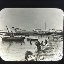 Quarantine Station Tripoli Antique Magic Lantern Glass Slide Photo