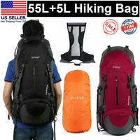 60L Outdoor Travel Hiking Camping Backpack Waterproof Rucksack Trekking Bag Pack