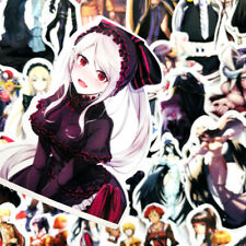 50PCS Sexy Anime Overlord Albedo Stickers For Laptop Luggage Skateboard Decals