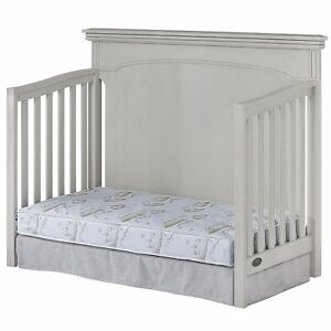 """Dream On Me, Twilight 5"""" 80 Coil Spring Crib & Toddler Bed Mattress, Green Cloud"""