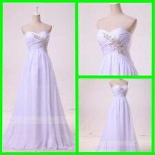Crystal/Diamante Regular Size Chiffon Wedding Dresses