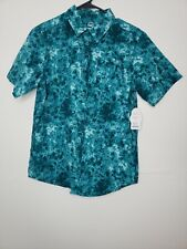 New Tags Wonder Nation Boys Button Front Shirt XXL X X Large 18 Green Floral